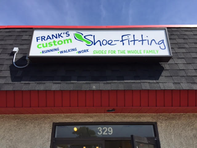 front sign - Frank's Custom Shoe-Fitting